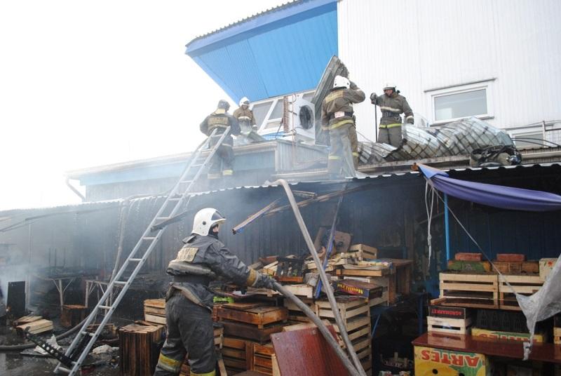 В Петропавловске горел «синий» рынок