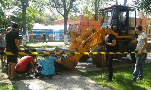 В Петропавловске продолжают реконструкцию «арбата»