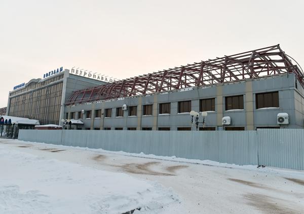 В Петропавловске к весне планируют завершить реконструкцию здания железнодорожного вокзала