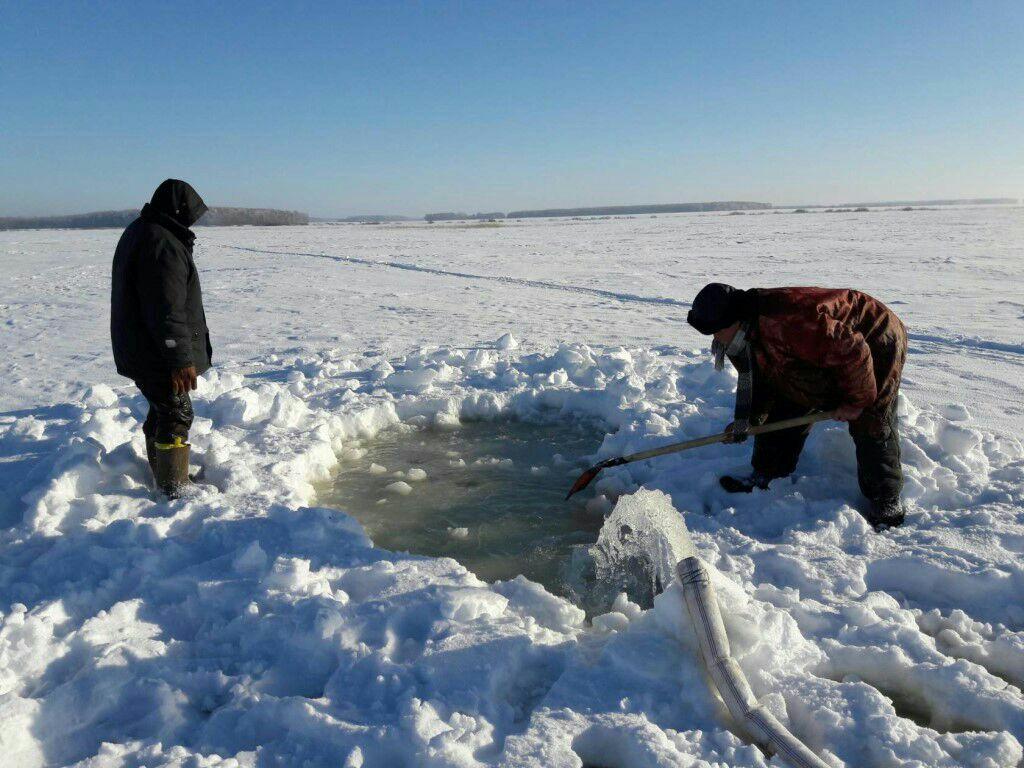 На севере Казахстана проводят аэрацию озёр (видео)