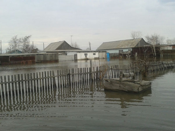 В Петропавловске затопило дачные участки