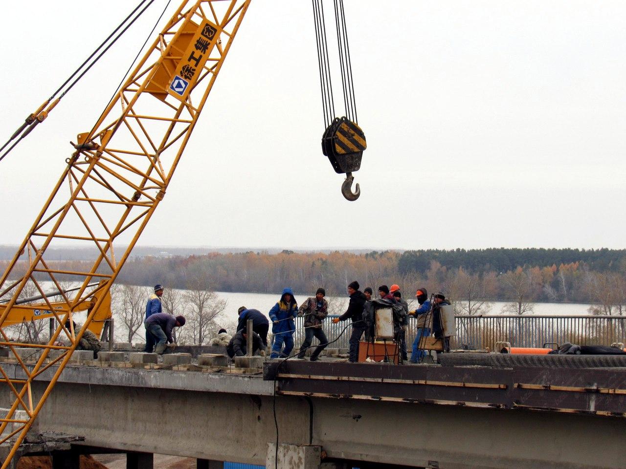 В Петропавловске продолжается ремонт Кировского моста (видео)