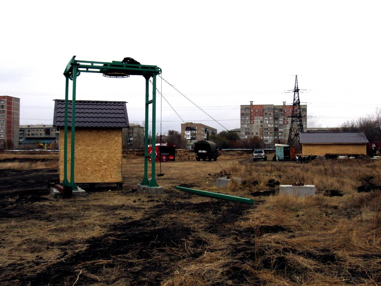 В Петропавловске продолжается строительство горнолыжного комплекса