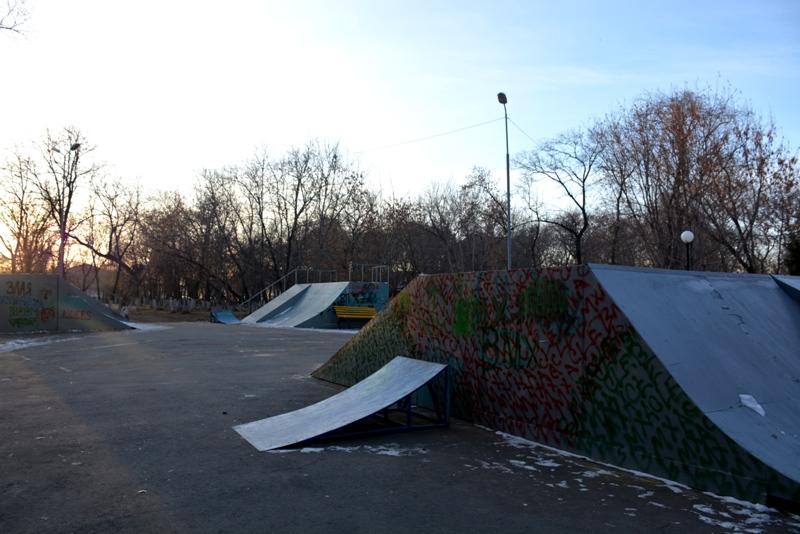Металлический трамплин пытались украсть два брата с территории старого парка Петропавловска