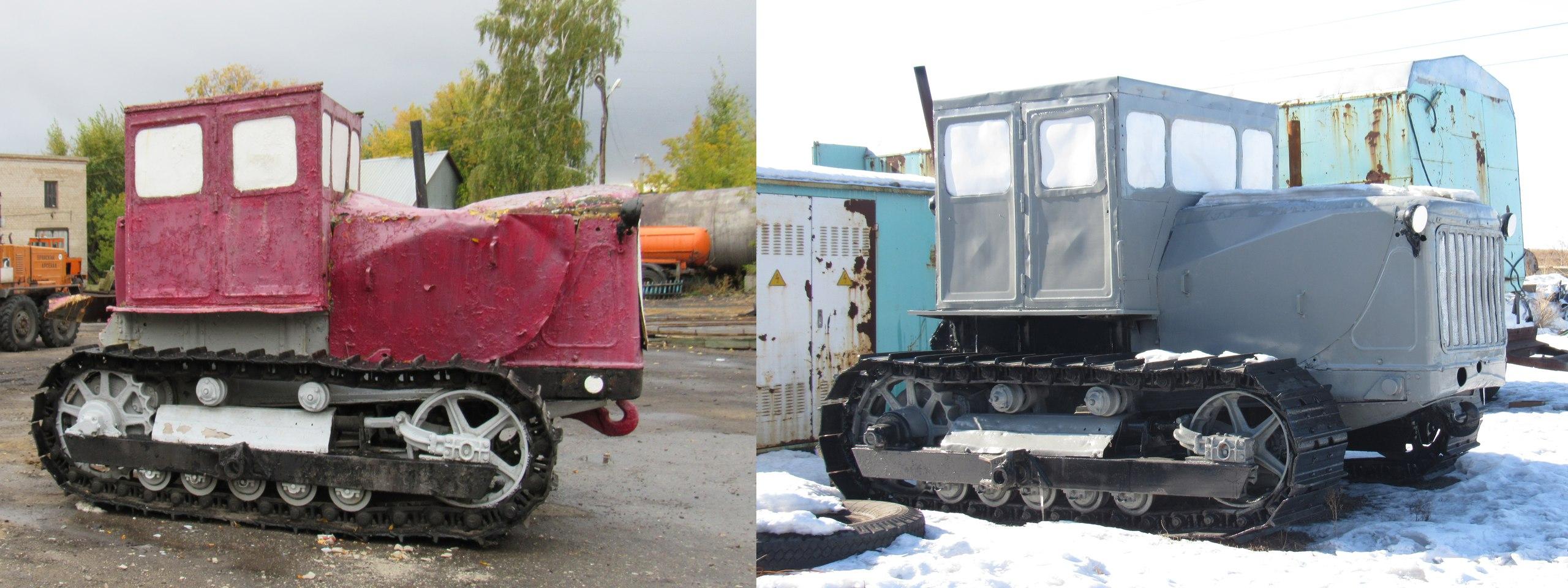 На Севере Казахстана отреставрировали трактор-памятник «Сталинец»