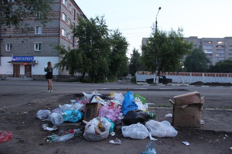 В центре Петропавловска образовалась стихийная свалка