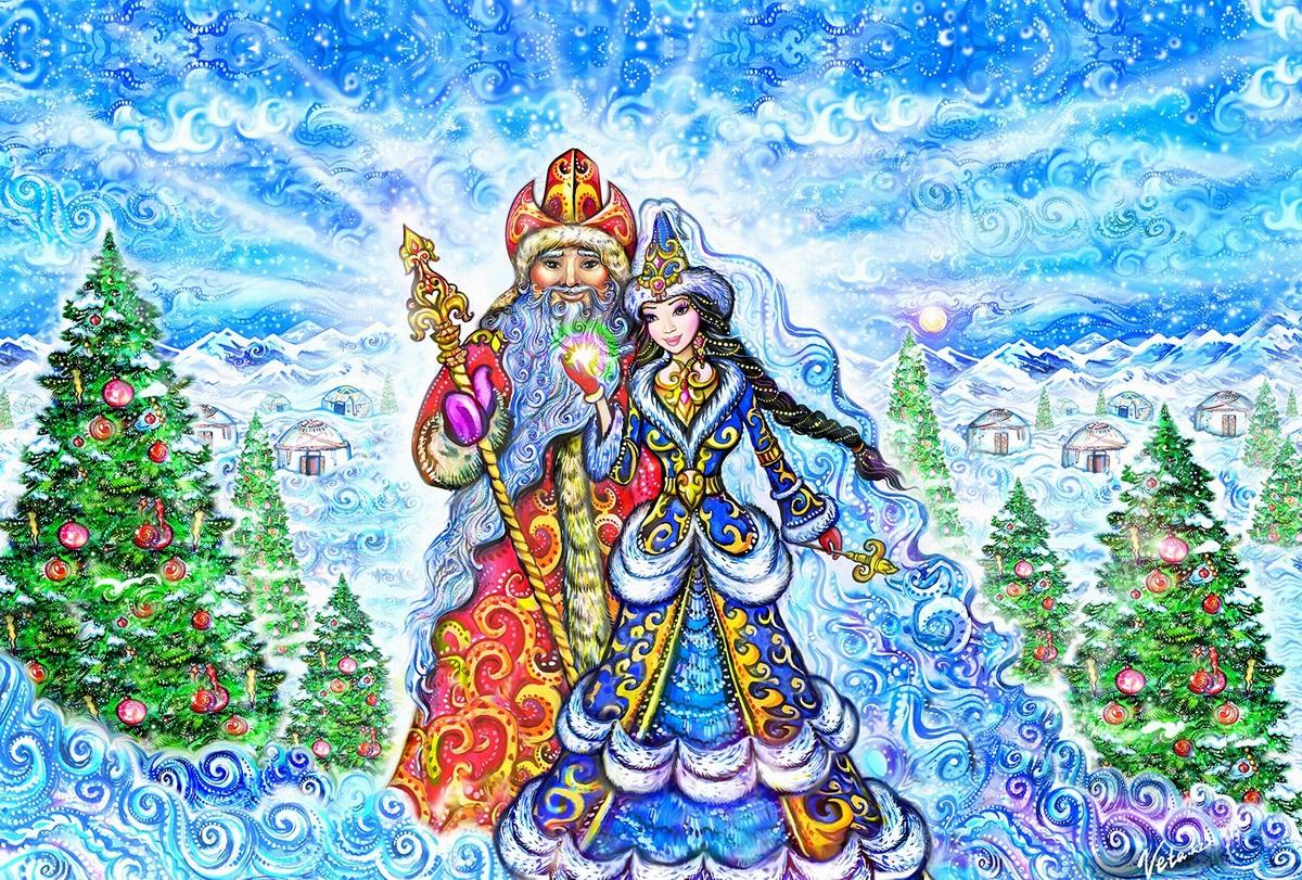 Празднование Нового года в Казахстане