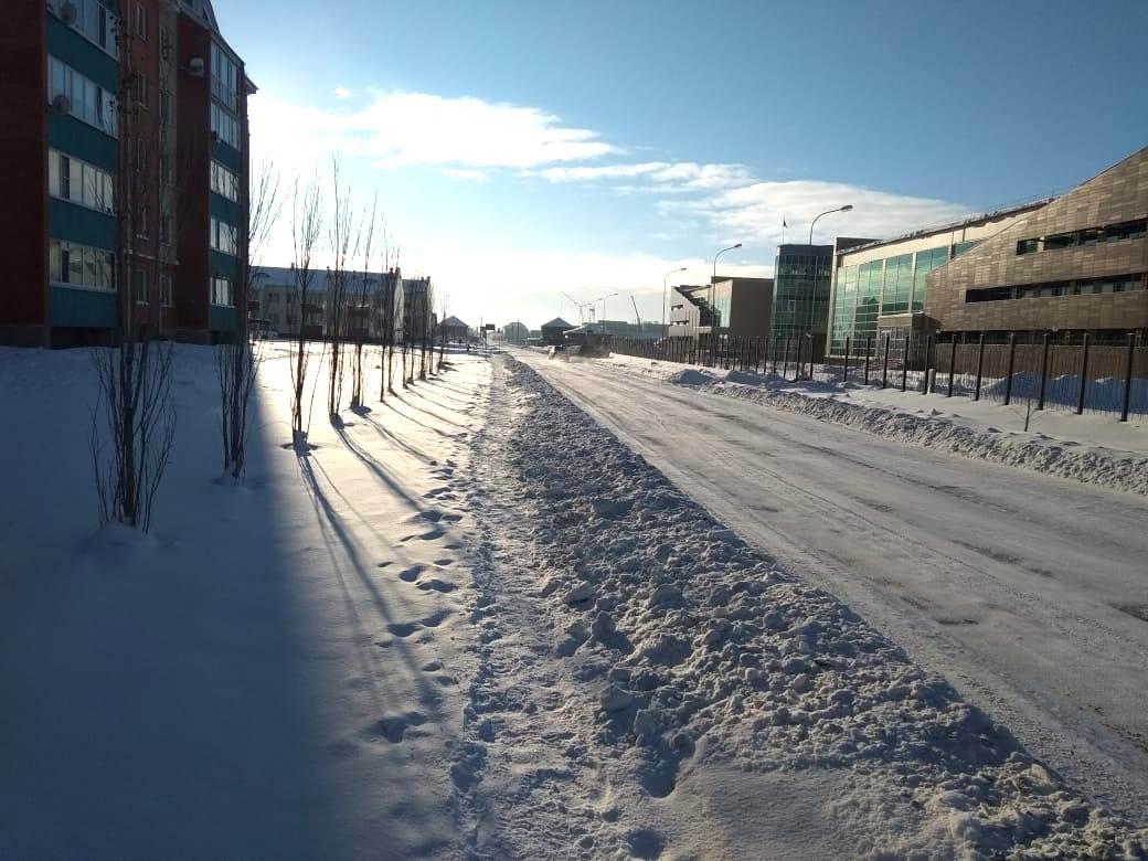 Жители Петропавловска недовольны качеством уборки  тротуаров