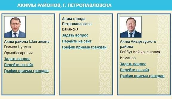 Кто может стать акимом Петропавловска  — интерактивный рейтинг