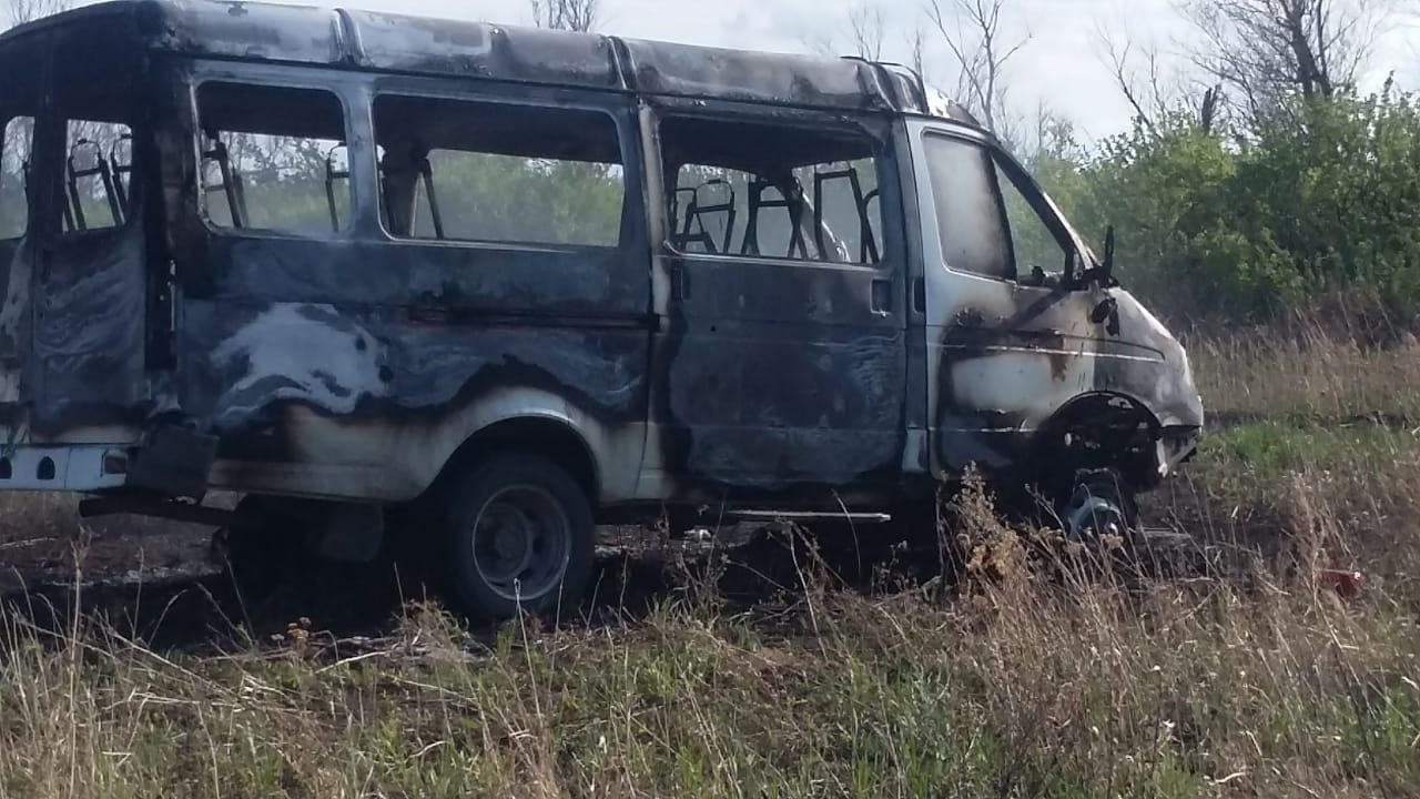 В Петропавловске сгорел школьный автобус