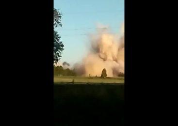 Взрыв возле Сергеевки — видео