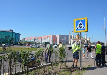 В Петропавловске установили пешеходный переход по просьбе горожан