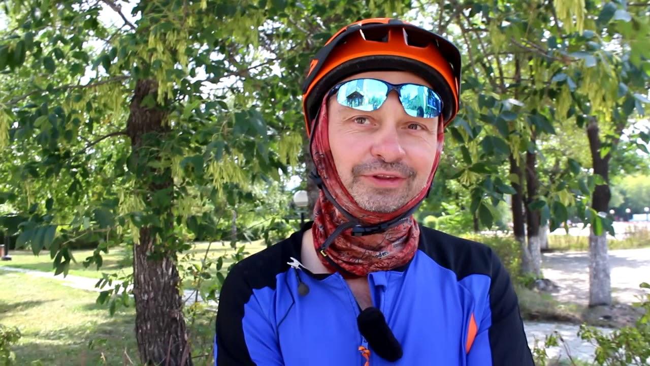 Бродяга из России посетил Петропавловск на велосипеде