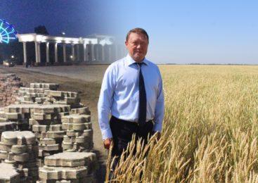 Богатый урожай тротуарной плитки собрали в Петропавловске