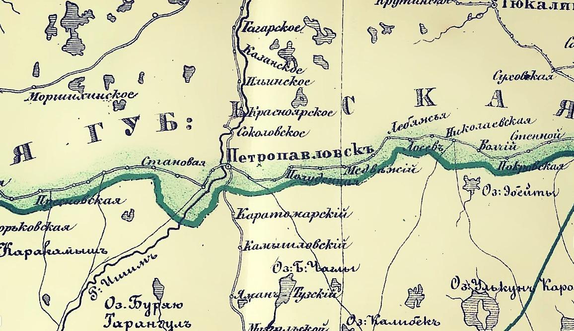 На краю Лукоморья: Петропавловск на старых картах