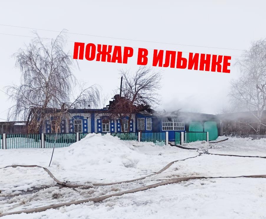 На севере Казахстана «всем миром» тушили  загоревшийся дом