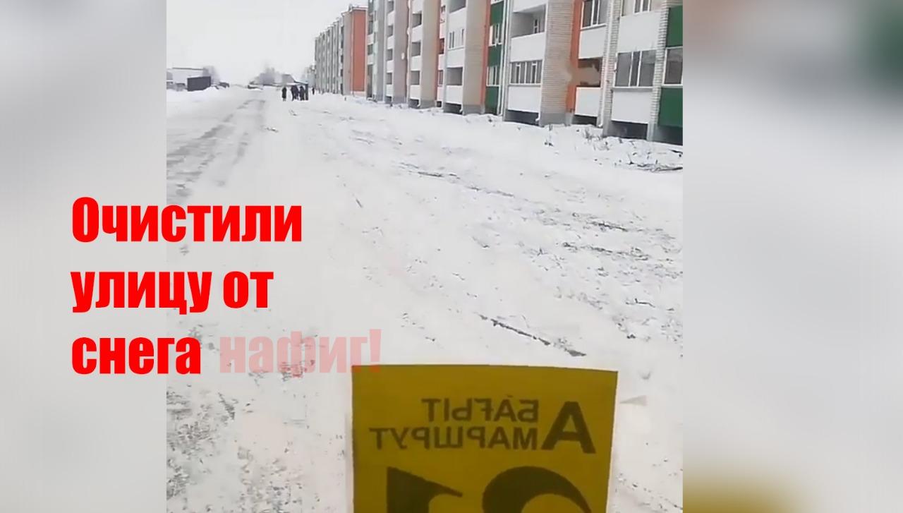 В Петропавловске расчистили улицу после эмоционального видео водителя