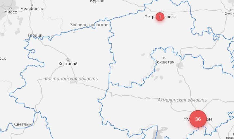 Первый случай коронавируса зафиксирован в Северо-Казахстанской области