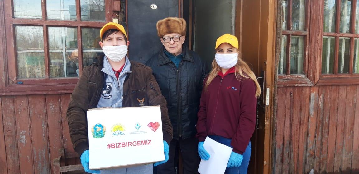 В Петропавловске бесплатно раздают маски и антисептики