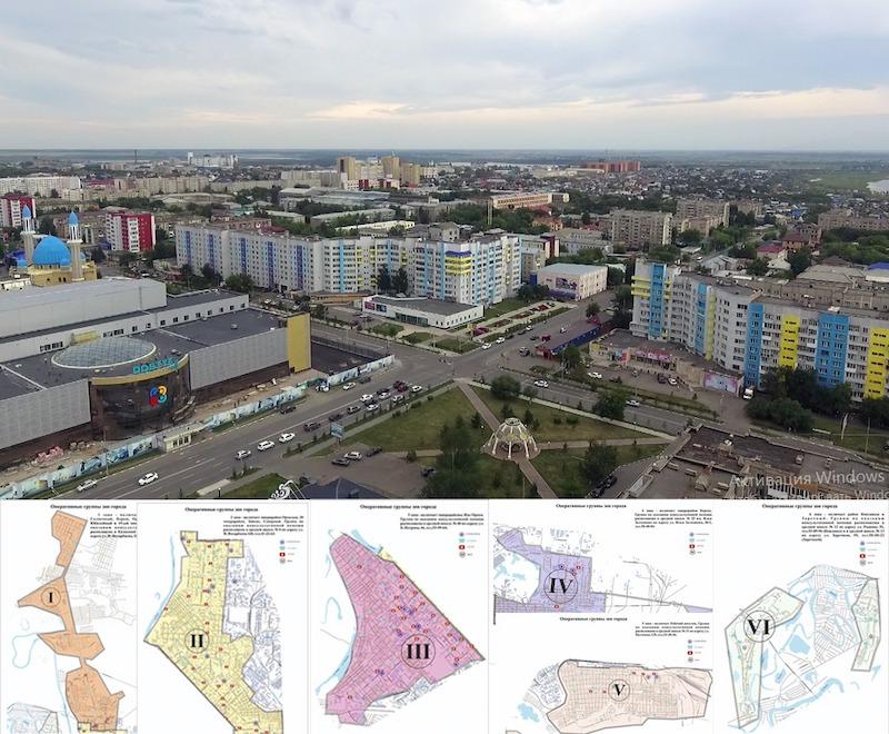Петропавловск разделен на шесть секторов