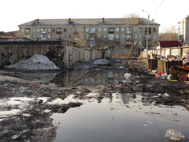 Петропавловск, грязная весна 2020 года