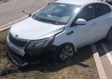 В Петропавловске пьяный водитель повредил дорожные знаки
