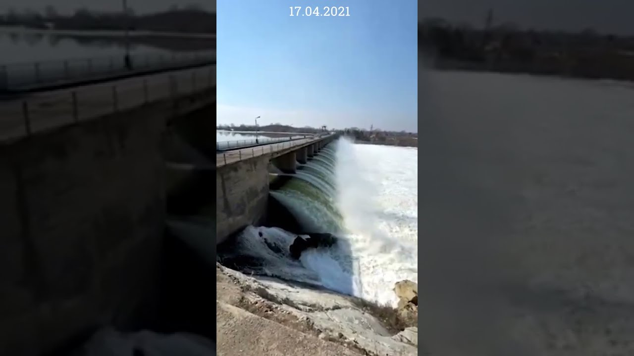 Перелив через плотину Сергеевского водохранилища — 165 сантиметров (видео)
