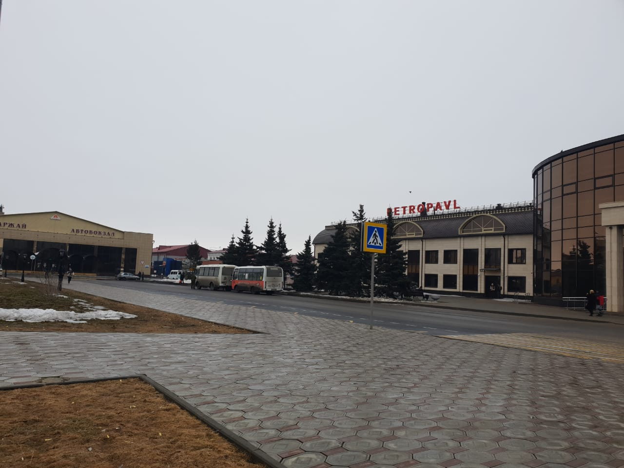 В Петропавловске остановку автобусов перенесли к вокзалу
