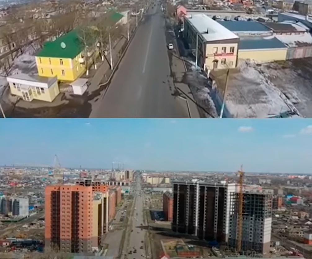 Кумар Аксакалов показал, как изменился микрорайон ДСР в Петропавловске за 4 года