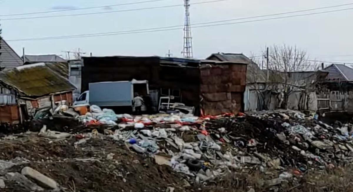 Жители Петропавловска выбрасывали мусор из «Газели» на берег Ишима